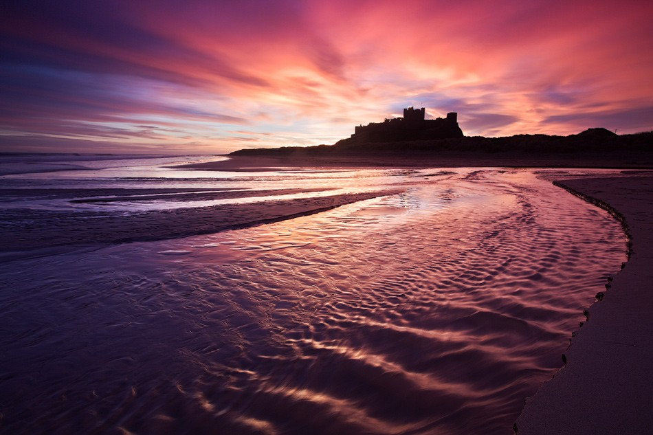 Bamburgh castle sunrise 1