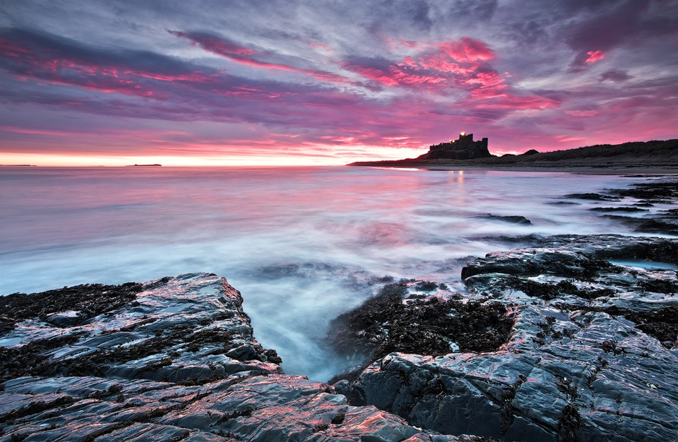 Bamburgh castle sunrise 2
