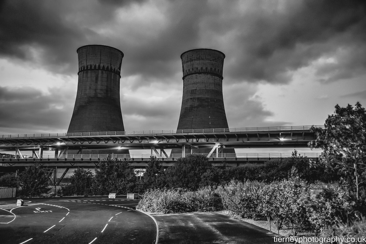 Tinsley-cooling-towers-black-and-white