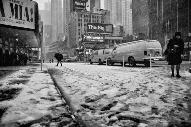 New york prints broadway snow street 1