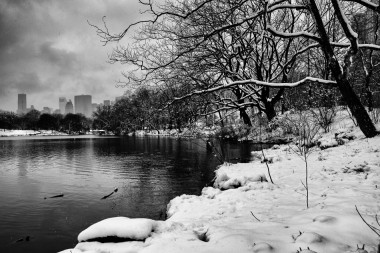 New york prints central park snow 2