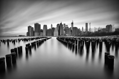New york prints manhattan black and white