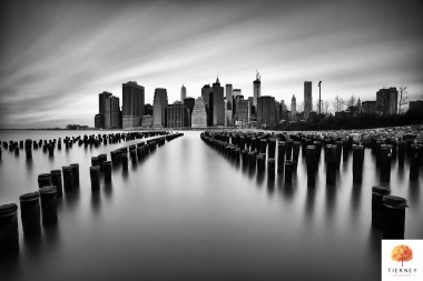 Black-and-white-lower manhattan