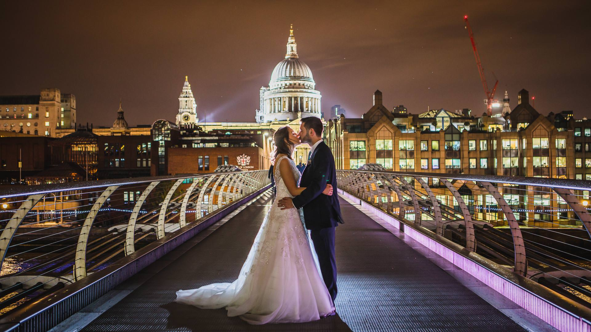 Stunning London location based wedding photography by Tierney Photography.